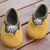 Felted slippers Amber