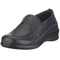 Aetrex Women`s E220 Rosalynn Leather Slip-on,Black Leather,12 M US