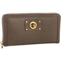 Marc by Marc Jacobs Totally Turnlock Large Zip-Around Wallet,Putty,one size