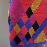 Geometric Design Sweater Skirt