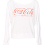 Ladies Coca Cola Off The Shoulder Lightweight Pullover : TruffleShuffle.com
