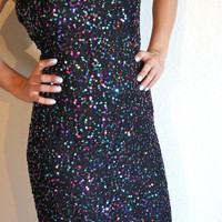 Colorful Sequins Evening Gown