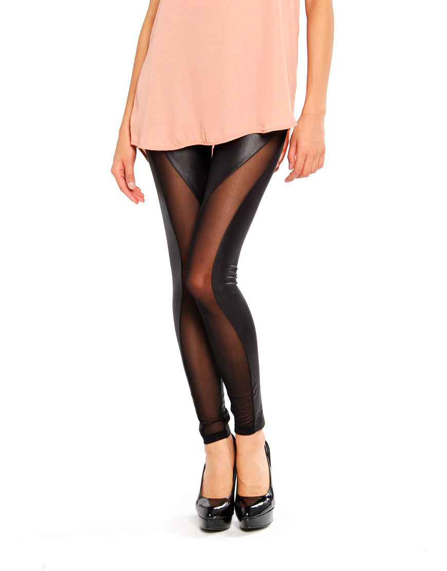 Curved Mesh Leggings
