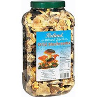 Roland Dried Wild Mushrooms, Mixed Dried, 16-Ounce Jar