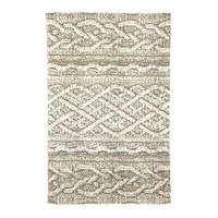 Cable Knit Printed Floor Mats