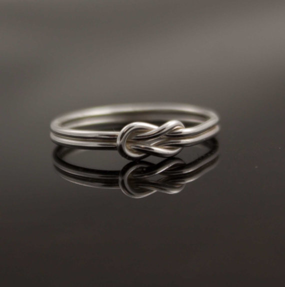 infinity ring sterling silver knot ring from