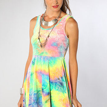 The SYM Tie Dye Velvet Dress
