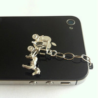 Hand-Assembled Custom Earphone Jack Plug Charm- Horse and Carriage