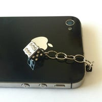 Hand-Assembled Custom Earphone Jack Plug Charm- Dice