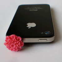 Hand-Assembled Custom Earphone Jack Plug- Flowers
