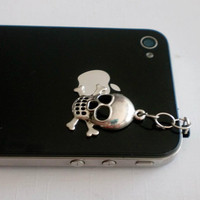 Hand-Assembled Custom Earphone Jack Plug Charms- Skull