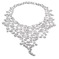 Lily Pad Necklace, Diamond