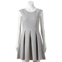 City Triangles Quilted Knit Skater Dress - Juniors