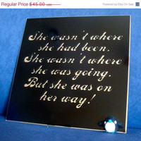 ON SALE Quote mirror