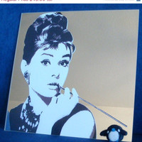 ON SALE Audrey Hepburn Mirror - Black &amp; White - Wall Mirror