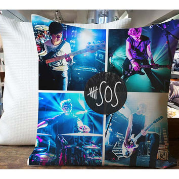 5SOS Live Perform - Housewares , Home Decor , Pillow Case One Side / Two Sides Design