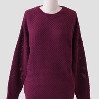 Cozy Up Sweater In Burgundy