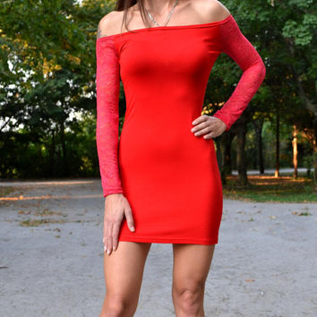 MINI RED DRESS Short Red Dress Womens Dresses Red Dress Mini Red Dress Dresses Night Out Dresses Red Dresses Mini Dresses Off The Shoulder