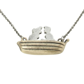 Disney The Little Mermaid Ariel Eric Boat Necklace