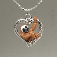 """fanART- """"Tribal heart sloths hang around"""" -unique gift for her"""