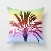 Paradise Throw Pillow by Lisa Argyropoulos