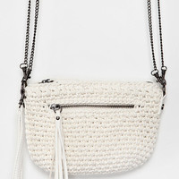 Kimchi Blue Crochet Exposed-Zip Crossbody Bag