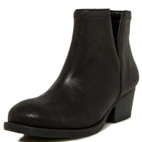 Black Distressed Bootie