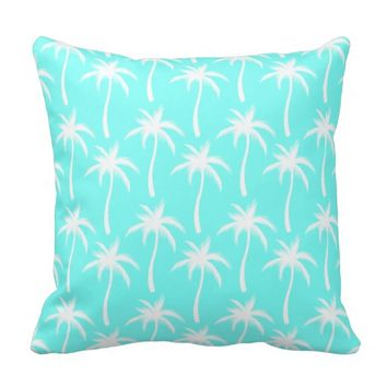 White Palm Trees Pillow