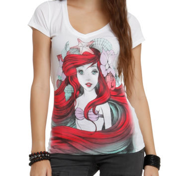 Disney The Little Mermaid Land Or Sea Girls T-Shirt
