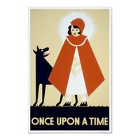 Little Red Riding Hood WPA Vintage Posters from Zazzle.com