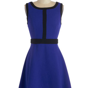 ModCloth Short Sleeveless A-line All In Deux Time Dress