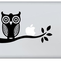 Owl For Apple Macbook Decal Vinyl Sticker by sunshinemac on Etsy