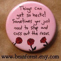cuss out the roses by beanforest on Etsy