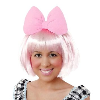 Sweet in the City Candy Pink Hair Bow Headband Minnie Mouse and Daisy Duck Inspired Gothic Sweet Lolita Oversize Big Huge Hairband Halloween Accessories