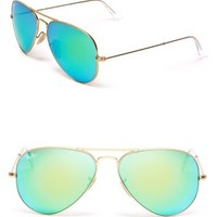 Ray-Ban Mirror Aviator Sunglasses | Bloomingdales's