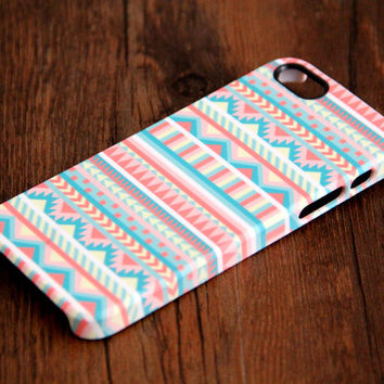 Pink and White Ethnic Aztec 3D-Wrap iPhone 6 5S 5 5C 4S 4 Case | Ac.y.c