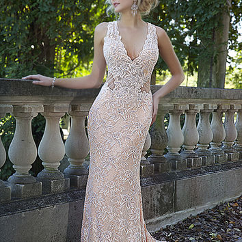 Sleeveless fitted gown 93141 - Prom Dresses