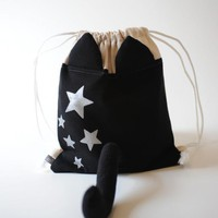 Dress Up Cat Drawstring Backpack on Luulla