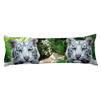 White Tiger Body Pillow
