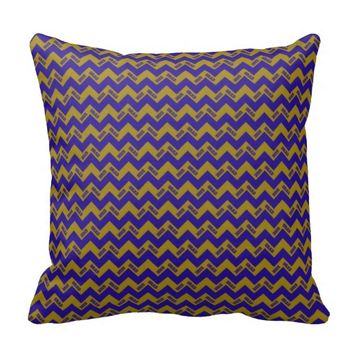 2015 Grad Chevron Pillow, Blue-gold
