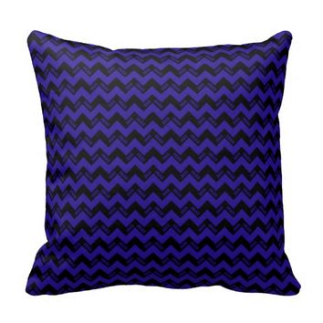 2015 Grad Chevron Pillow, Blue-black