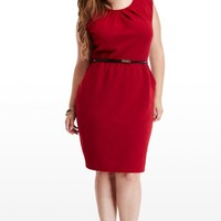 Plus Size Quilted Dress with Belt | Fashion To Figure