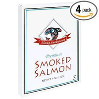 Alaska Smokehouse Premium Smoked Salmon, 4-Ounce Gift Boxes (Pack of 4)