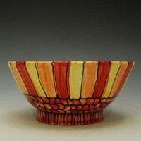 Ceramic Handmade Striped Bowl Made to Order