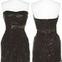 ROMEO &amp; JULIET COUTURE Strapless Pleat Sequin &amp; Sateen Dress