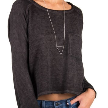 Loose and Comfy Lightweight Sweater - Charcoal /