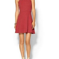 Textured Fit N Flare Dress