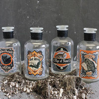 Witch's Brew Potion Jars - Set of 4