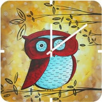 DENY Designs Home Accessories | Madart Inc. Peekaboo Custom Clock