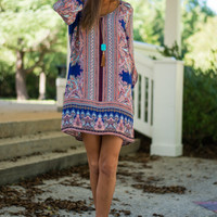 Perfect Placement Dress, Blue